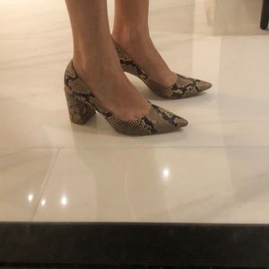 Zara Animal print heels, square medium heigh